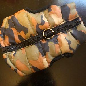 DOG camo harness vest